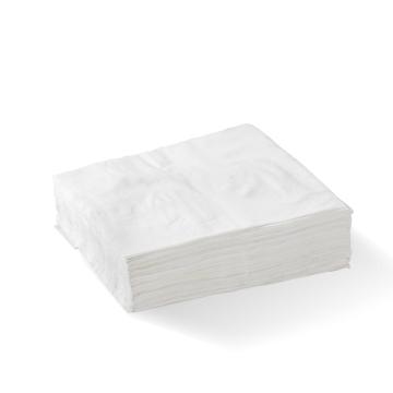1 Ply 1/4 Fold White Lunch BioNapkin