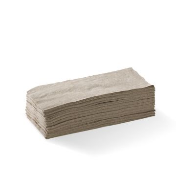 1 Ply 1/8 Fold Natural Lunch BioNapkin