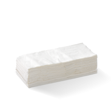 1 Ply 1/8 Fold White Lunch BioNapkin