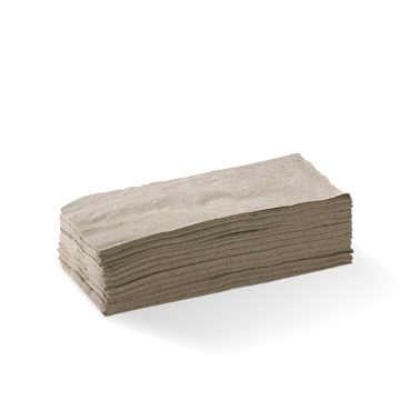 2 Ply 1/8 Fold Natural Lunch BioNapkin
