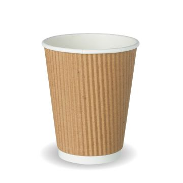 12oz Brown Ripple Cup