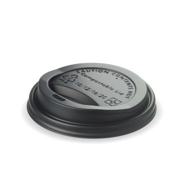 12/16oz Black PLA Lid