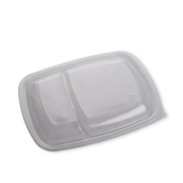 Clear Two Compartment Lid