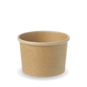 8oz Kraft Compostable Soup Pot Lid