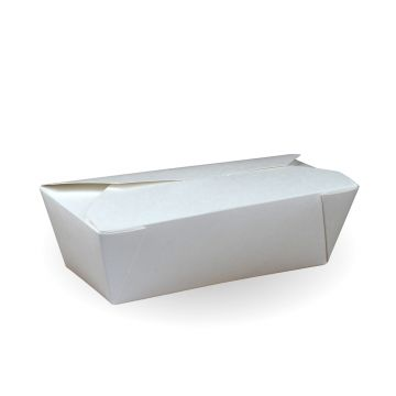 800ML #6a Recyclable White Hot Food Boxes