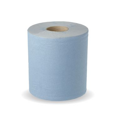 2 Ply 100% Recycled Centre Pull Blue Roll