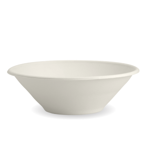 32oz White BioCane Sugarcane Bowl