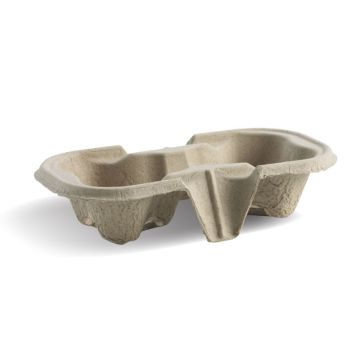 2 Cup Compostable BioCup Tray