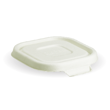 White Biocane Lids to Fit 280-630ml BioCane Takeaway Containers