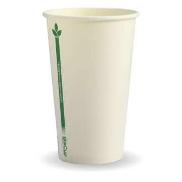 12oz (80mm) White Green Line BioCup
