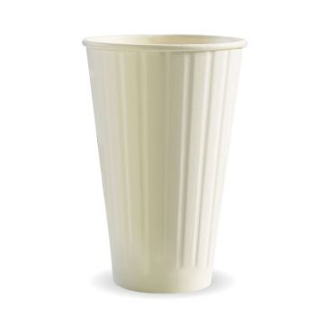 16oz White BioCup-Double Wall