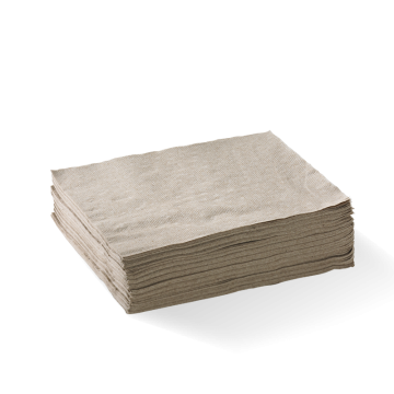 2 Ply 1/4 Fold Natural Lunch BioNapkin