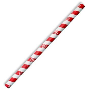 10mm Jumbo Red Stripe BioStraw