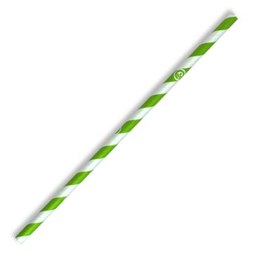6mm Regular Green Stripe BioStraw
