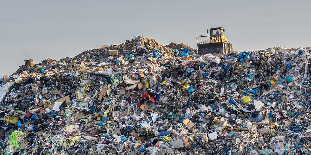 mountain of landfill