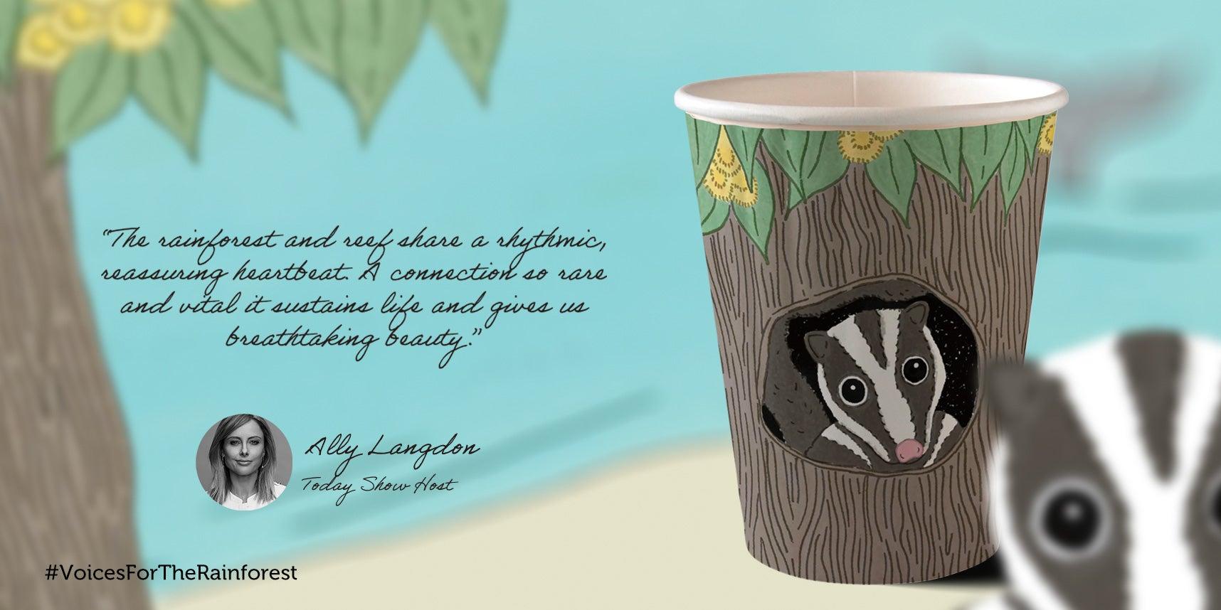 Ally Langdon paper cup design