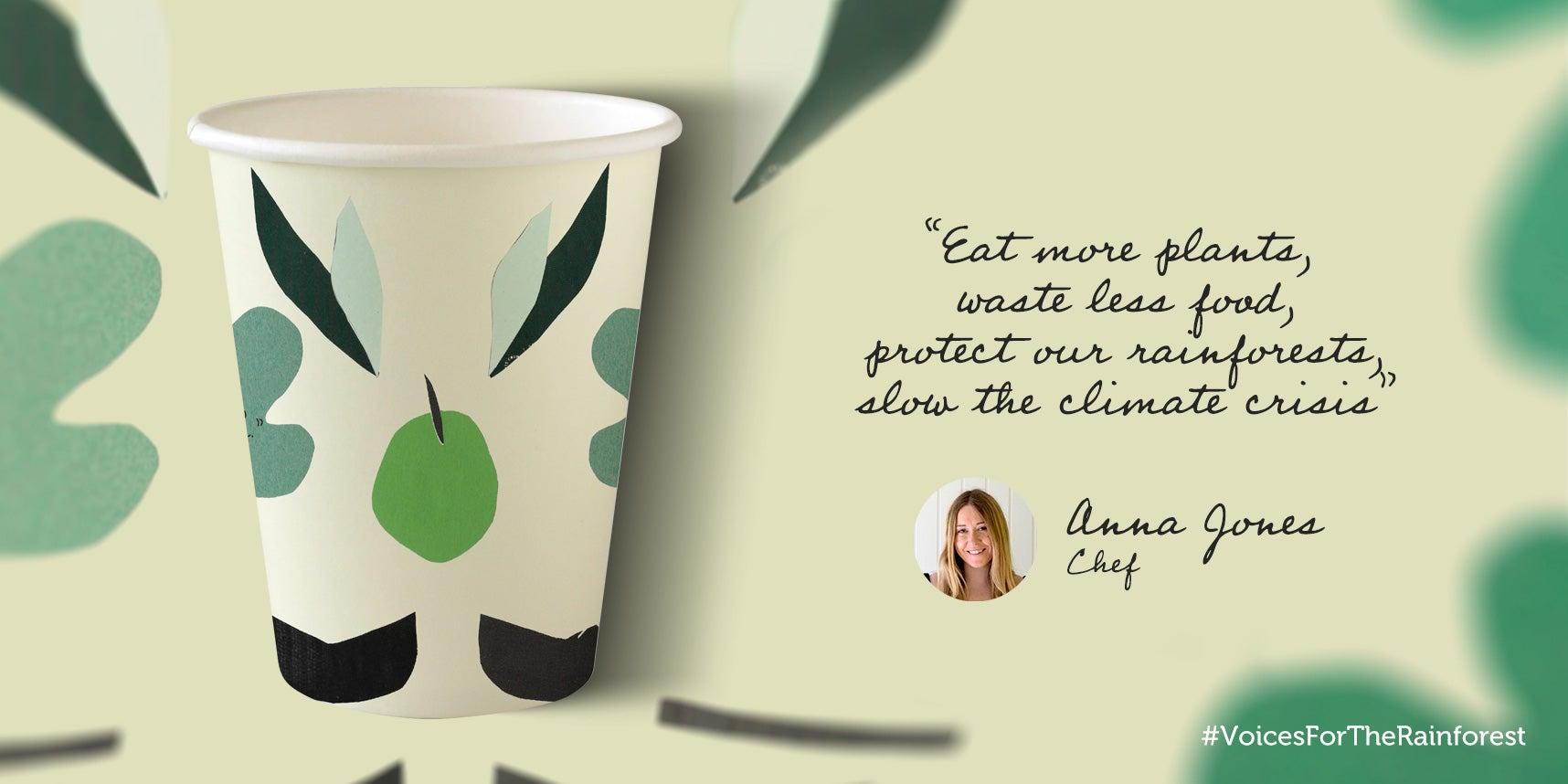 Anna Jones paper cup design