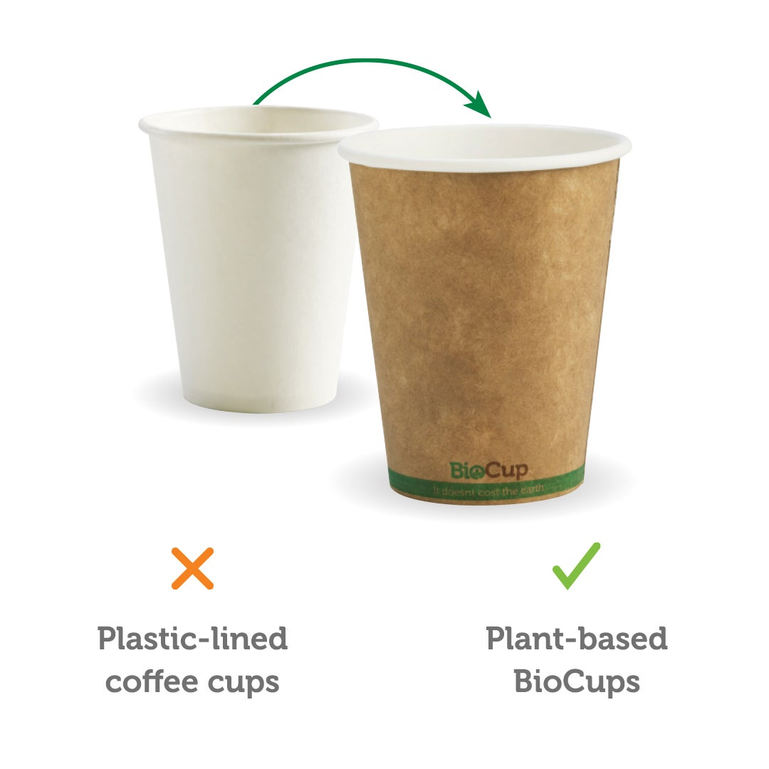 sustainable alternative to plastic-lined PE coffee cups
