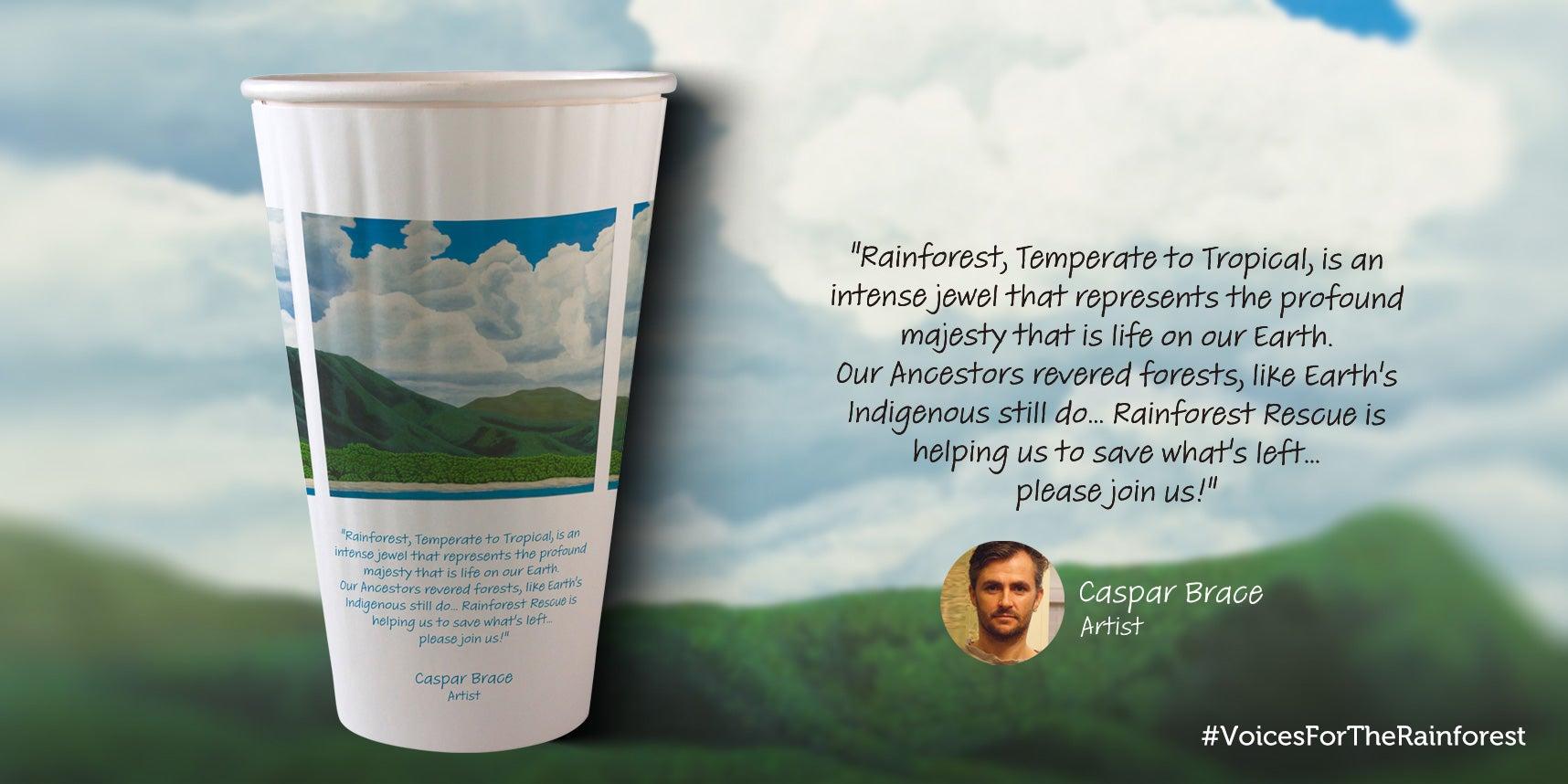 Casper Brace paper cup design
