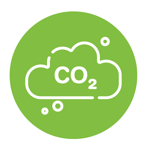 co2 image in green background