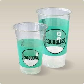 custom clear cups