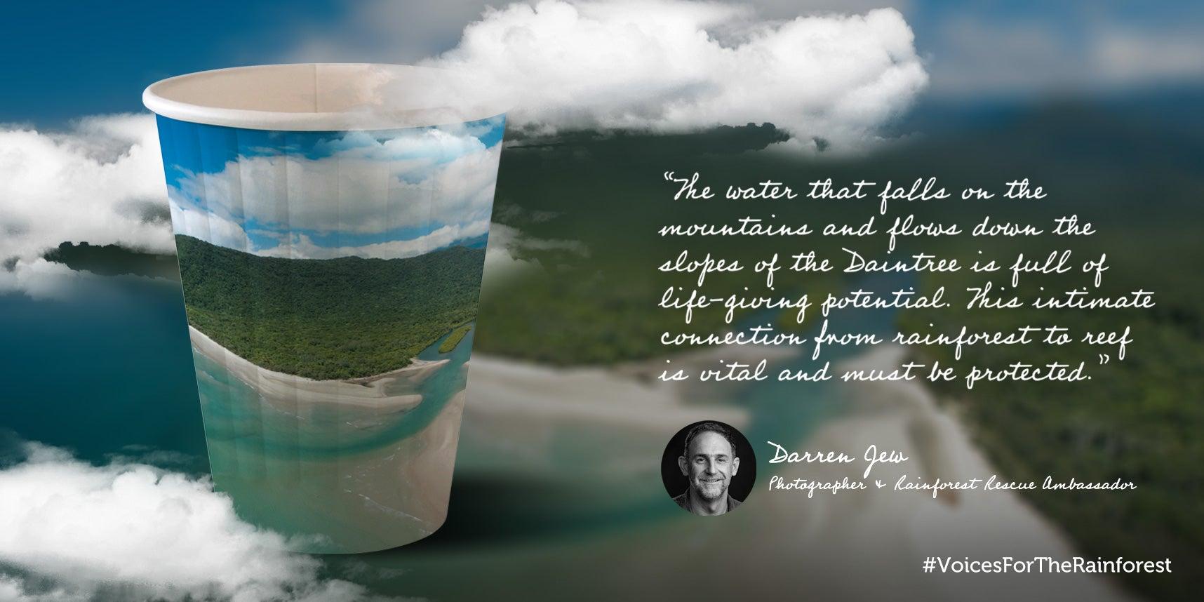 Darren Jew paper cup design