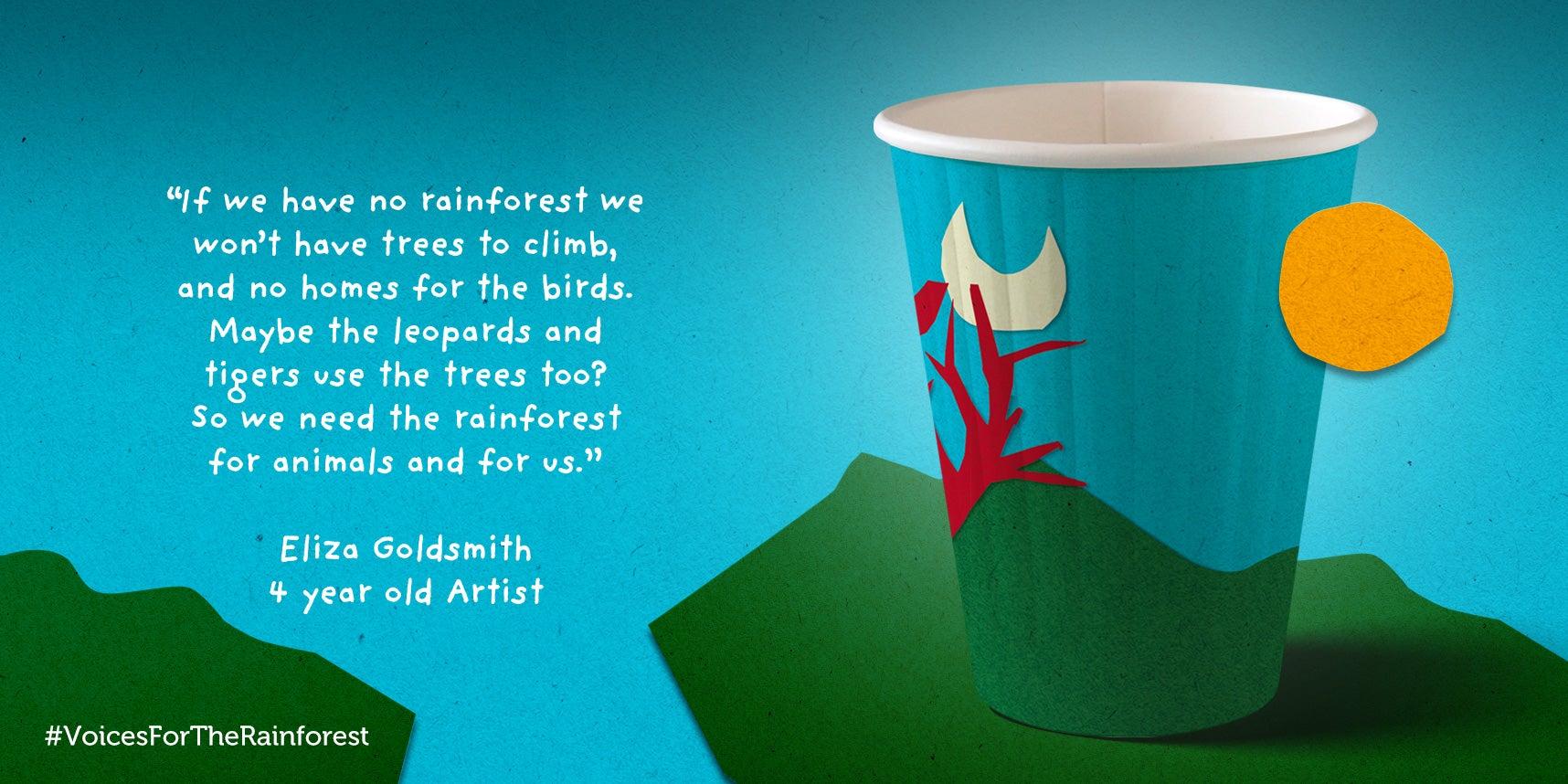 Eliza Goldsmith paper cup design