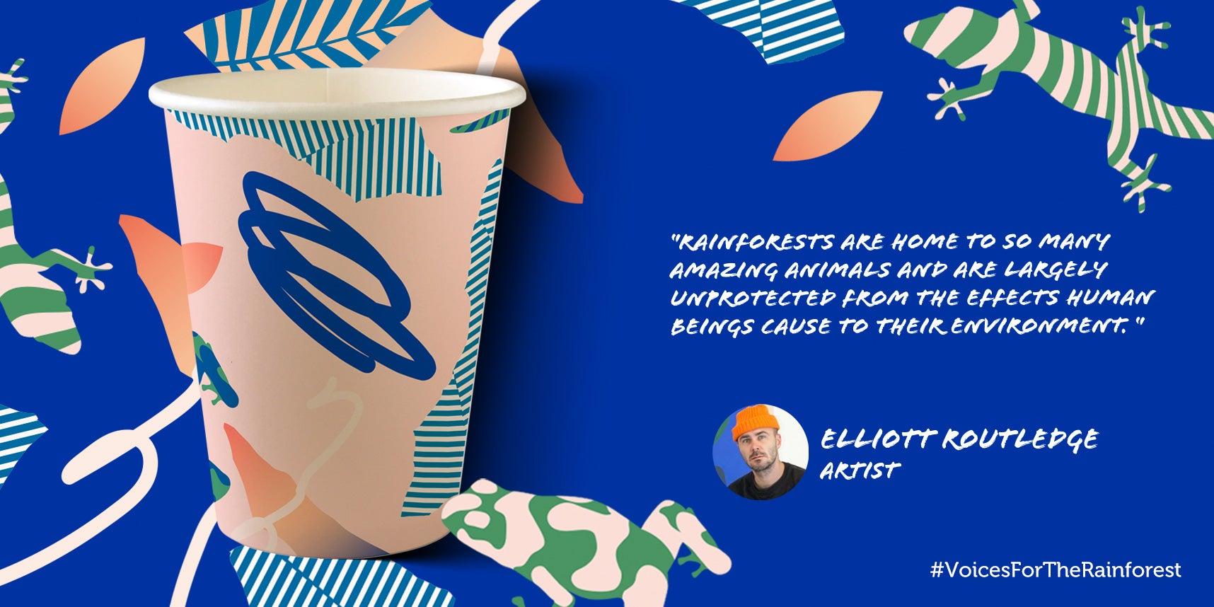 Elliott Routledge paper cup design