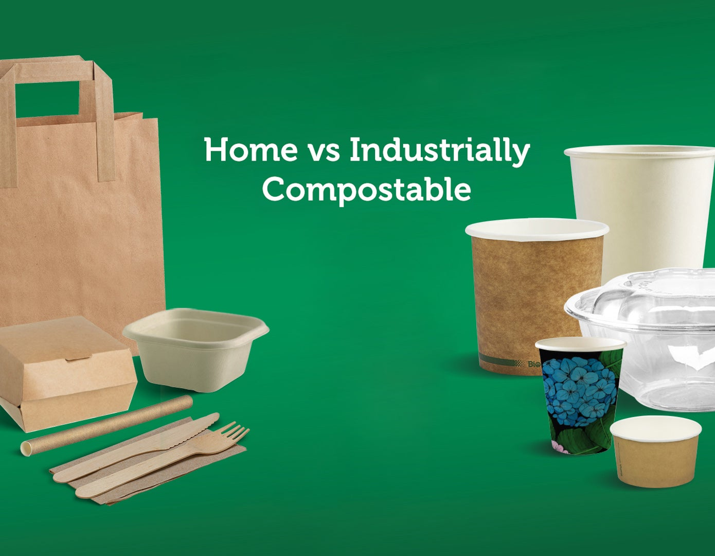 Commercial Composting vs. Home Composting packaging products