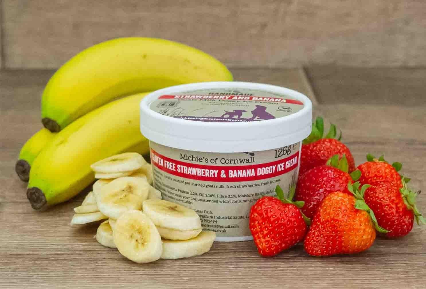 strawberry and banana ice cream