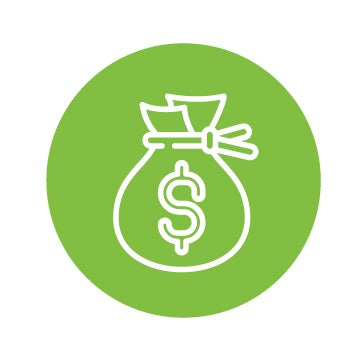 savings icon in green background