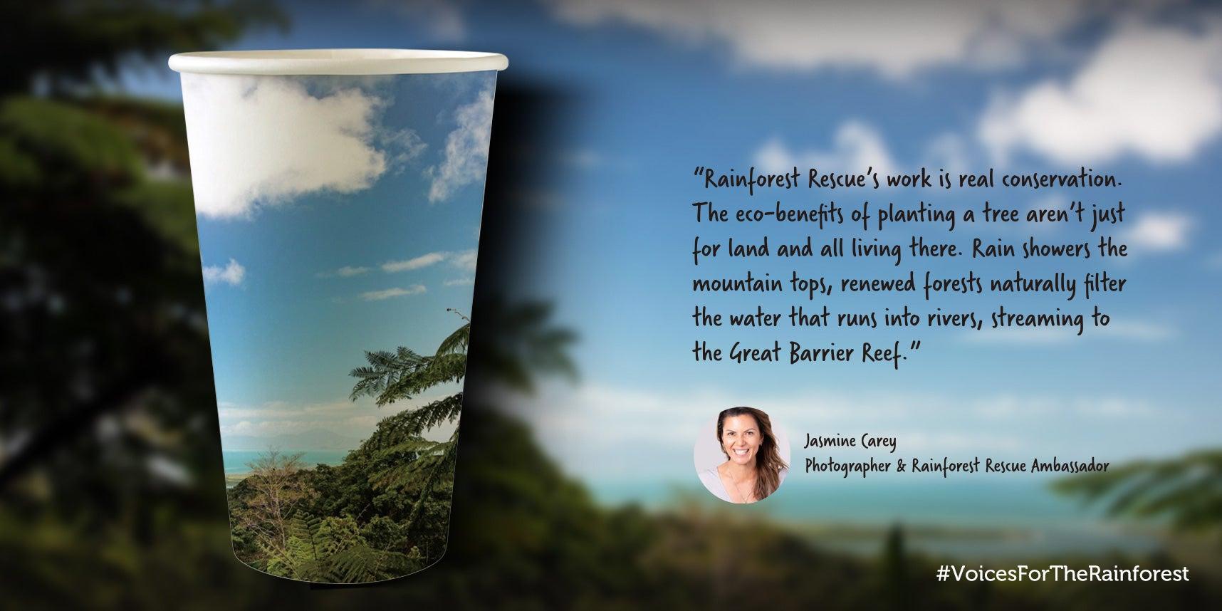 Jasmine Carey paper cup design