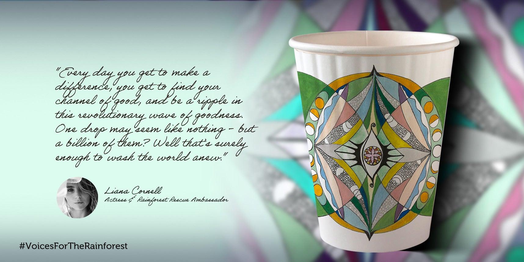 Lianna Cornell paper cup design