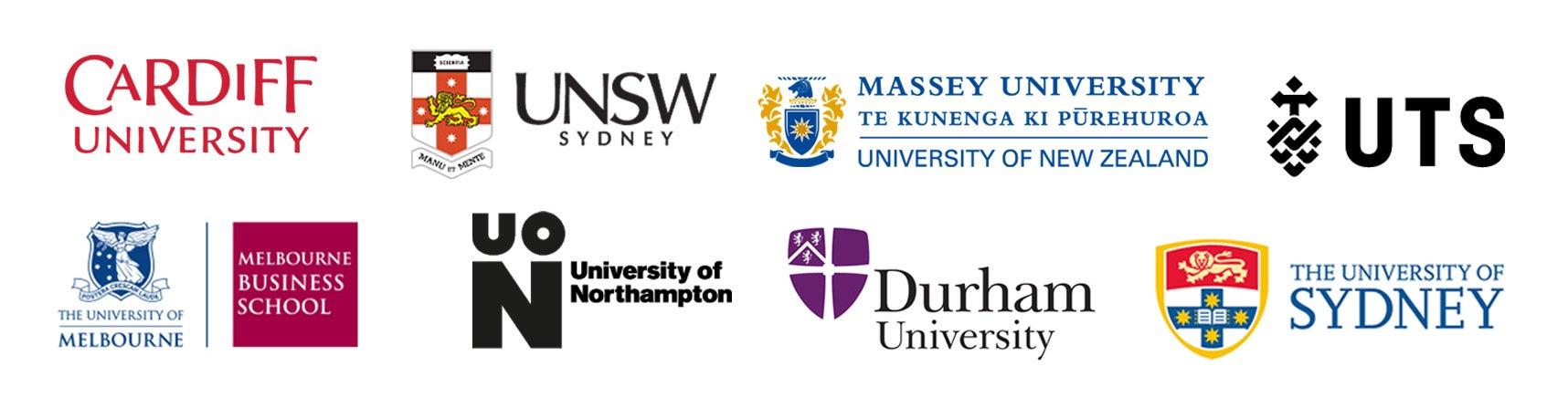 Logos of 10 universities