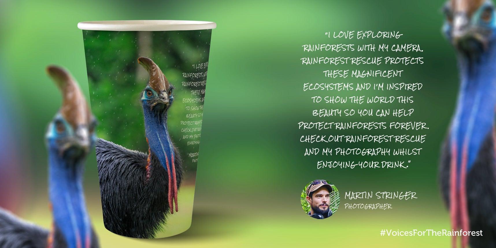 Martin Stringer paper cup design