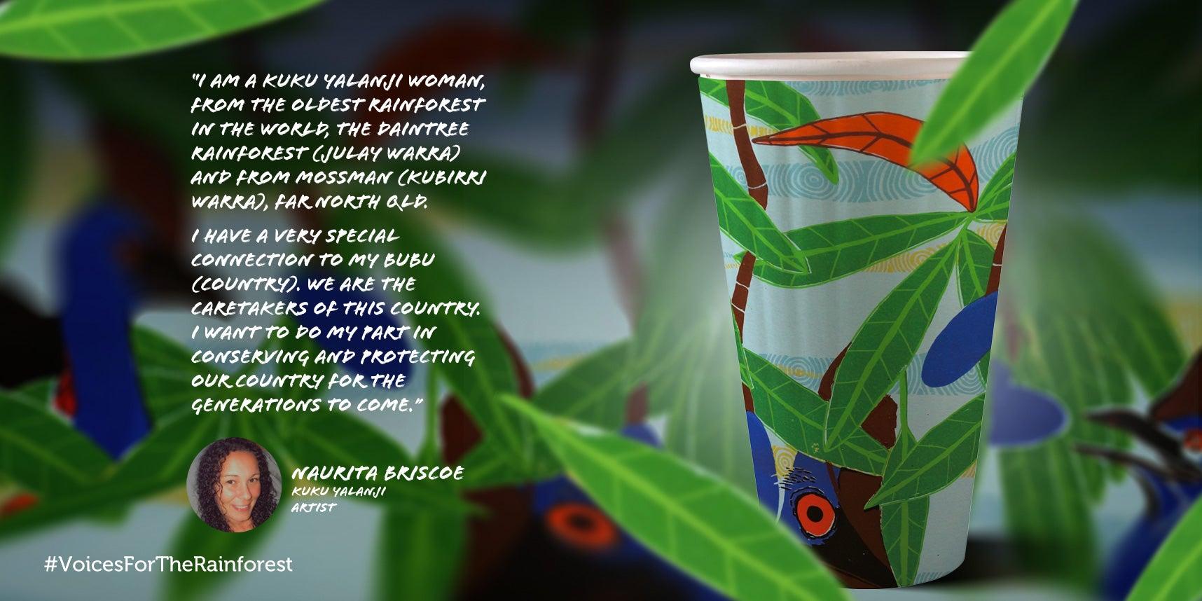 Naurita Briscoe paper cup design