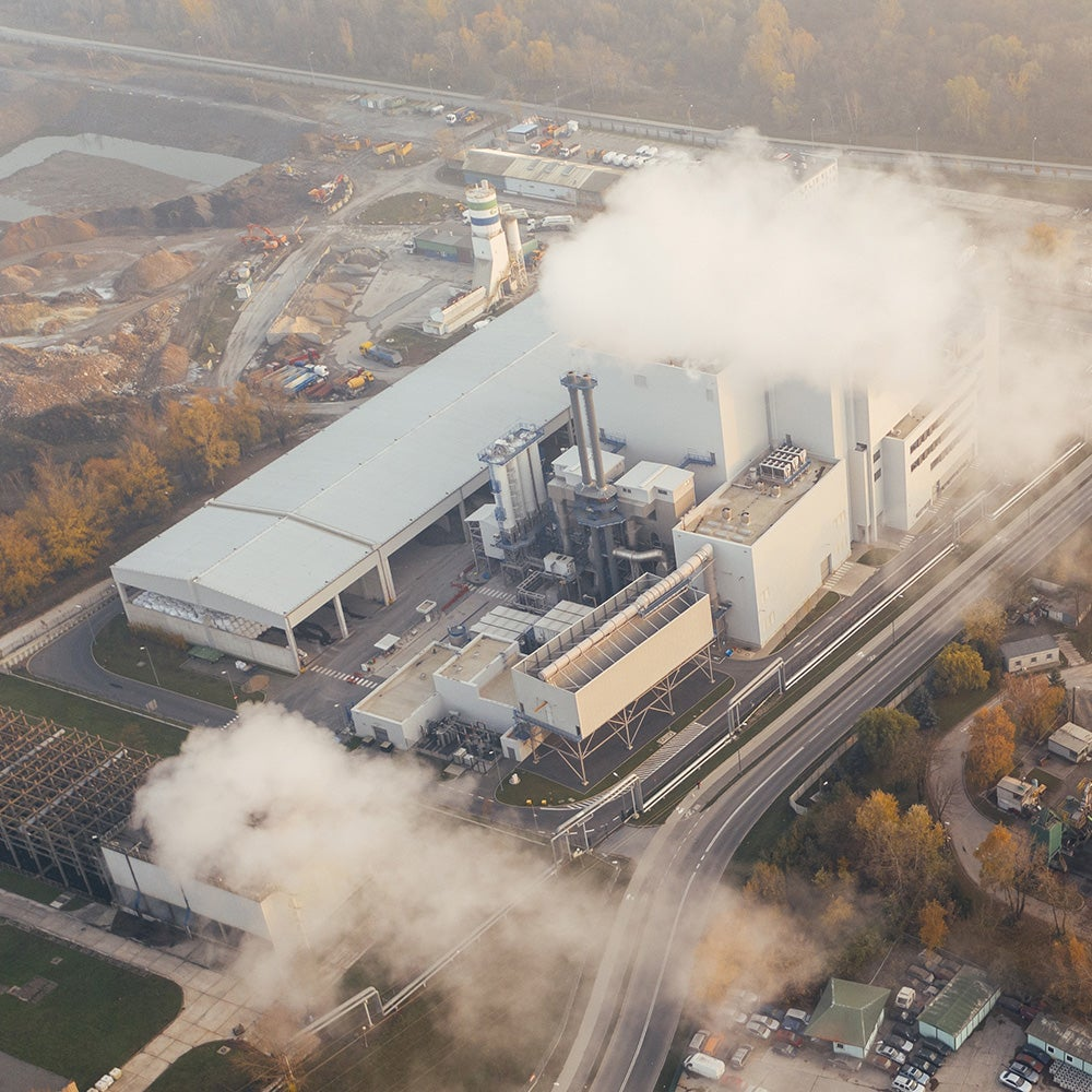 greenhouse gases from smoke stack