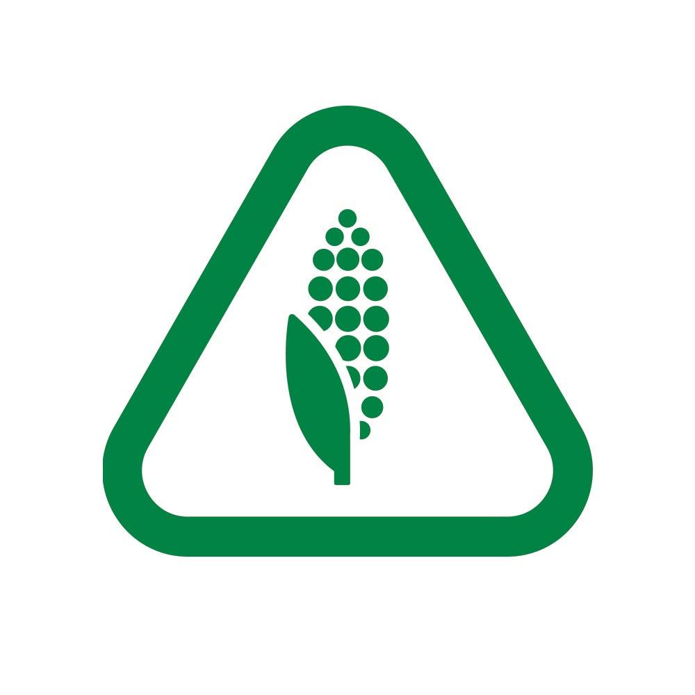corn bioplastic symbol