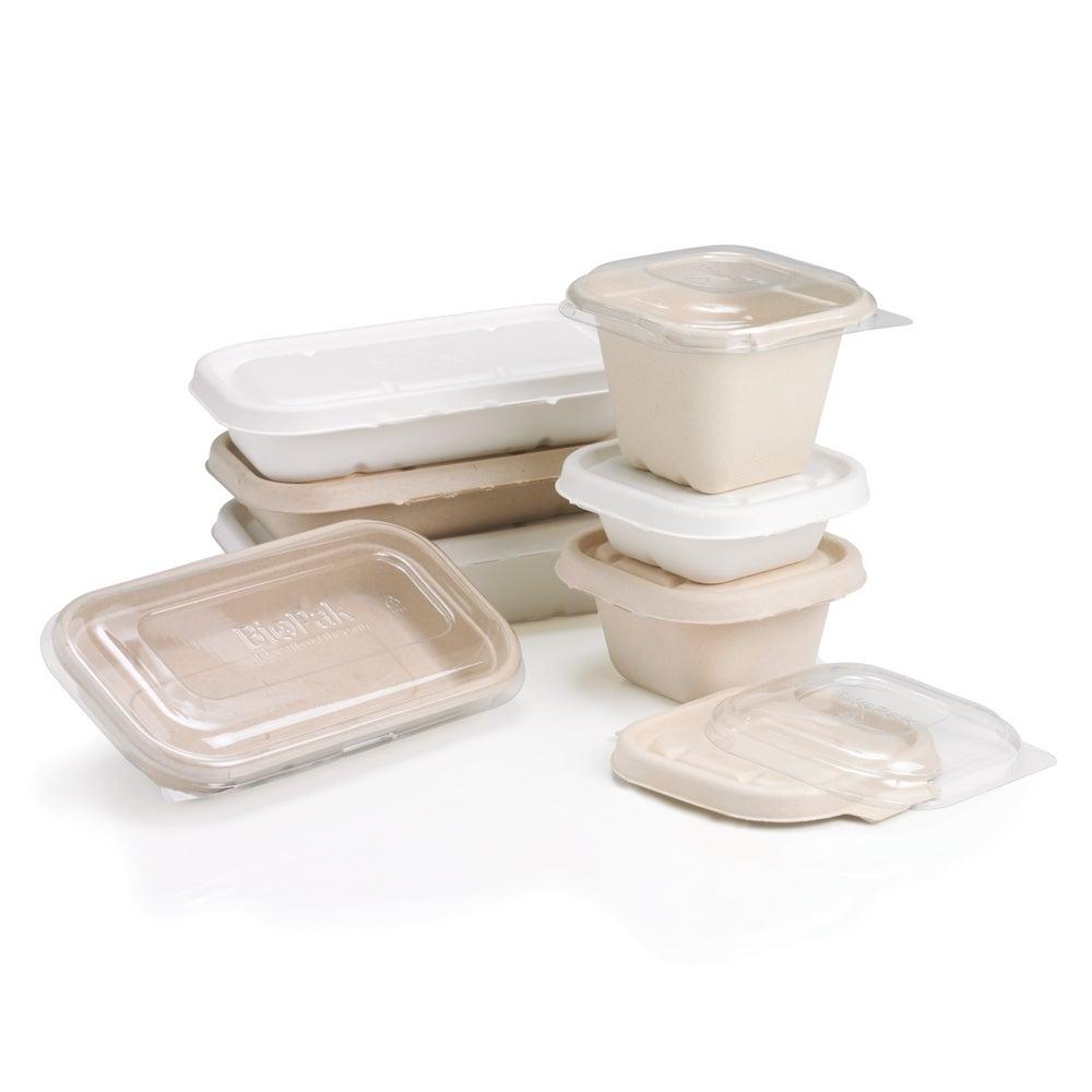 Sugarcane bagasse takeaway food packaging