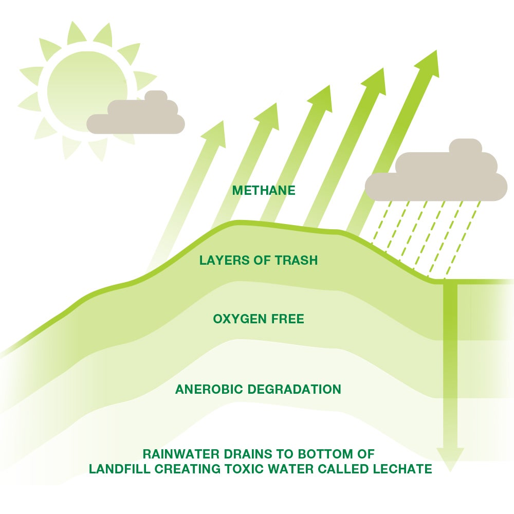 impact of organic waste in landfill