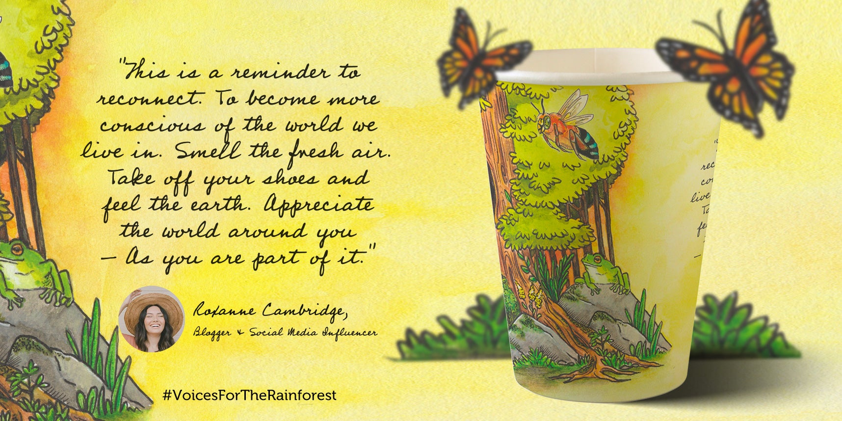 Roxanne Cambirdge paper cup design