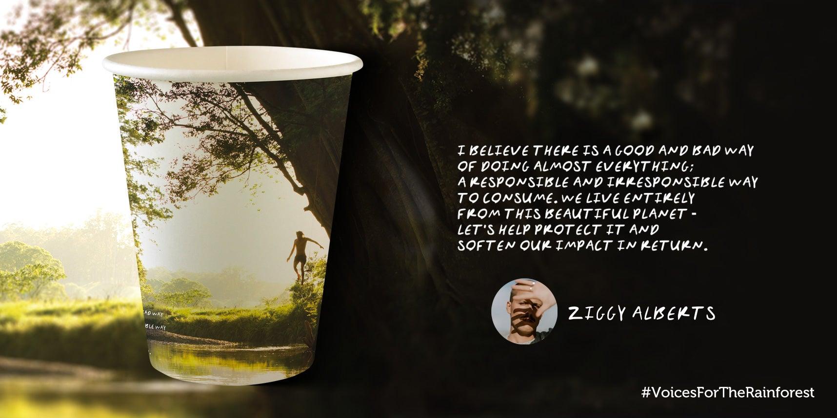 Ziggy Alberts paper cup design