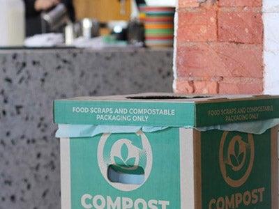 food packaging compost service paper bin