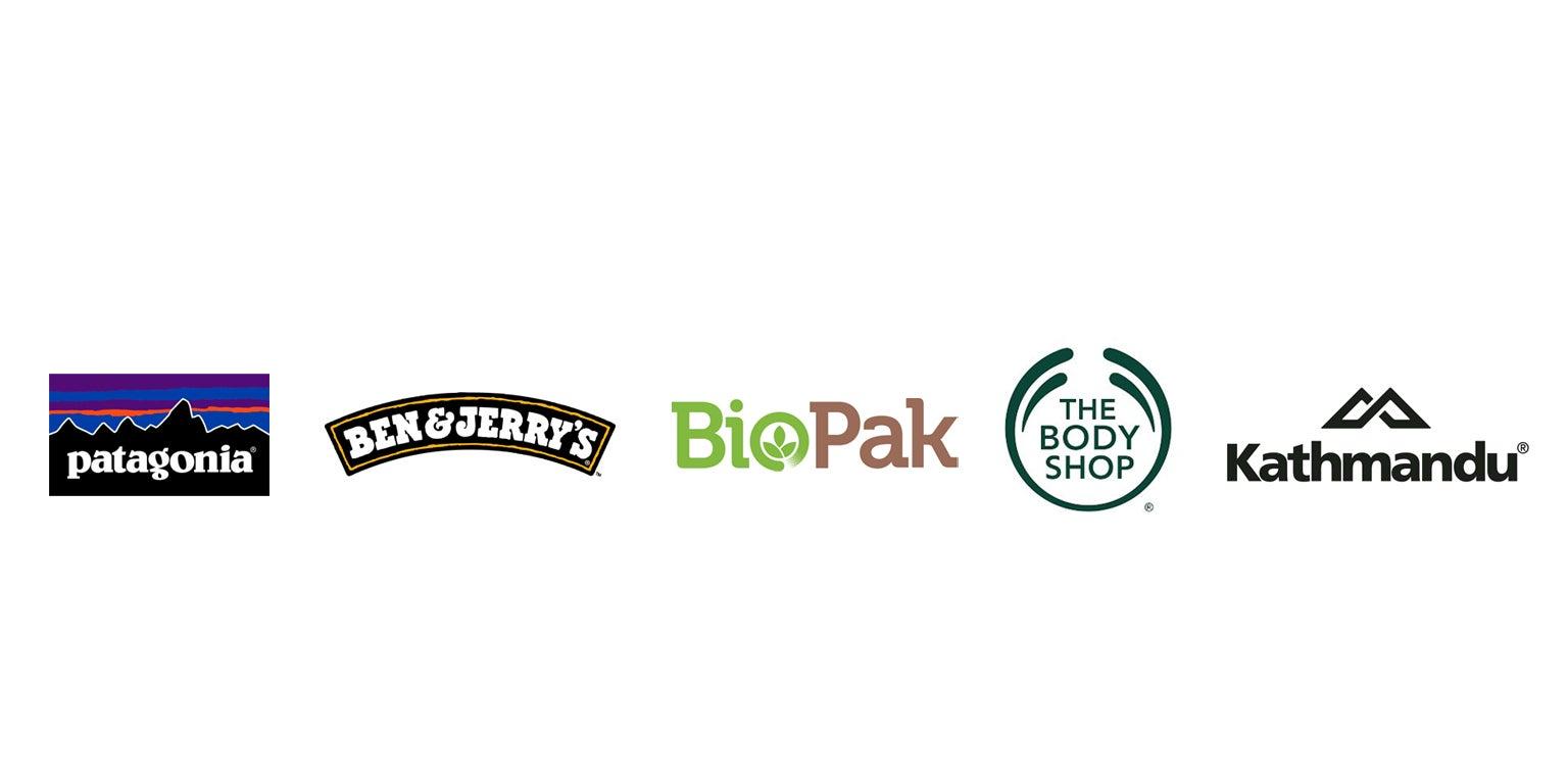 logos of B corp certified companies