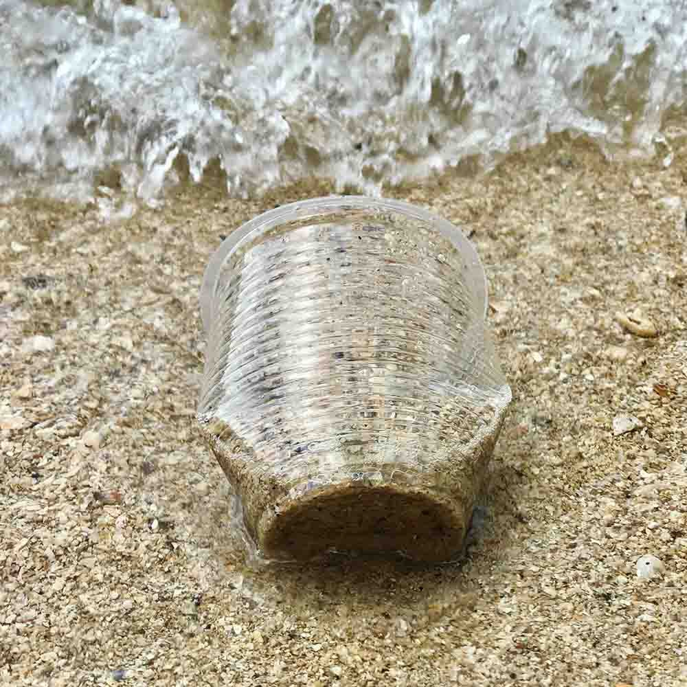 image of plastic waste on a beach